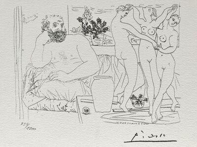 Pablo Picasso, 'Sculpteur et trois danseuses sculptées (Suite Vollard Planche LXXXI)', 1973
