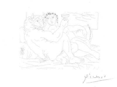Pablo Picasso, 'Minotaure, une Coupe à la Main, et jeune Femme, from La Suite Vollard', 1933