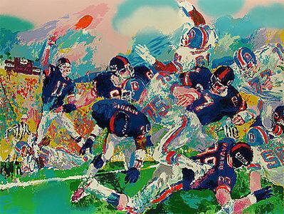 LeRoy Neiman, 'Giants - Broncos Classic', 1987