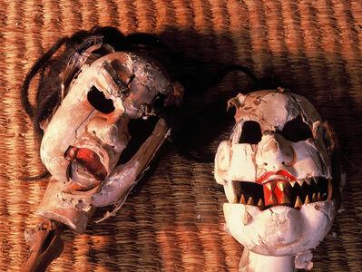"Shigeo Nishida, '""Heads of Hannyamaru"" Spirited face of wooden puppet', 1991-1993"