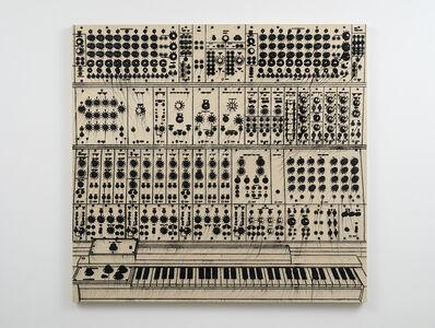 Analía Saban, 'Pleated Ink (Music Synthesizer: Moog Modular, 1963)', 2020