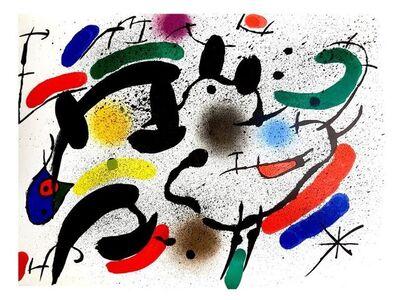 "Joan Miró, 'Original Lithograph ""Abstract Composition VI"" by Joan Miro', 1981"