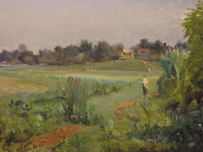 Aleksandr Nikiforovich Chervonenko, 'Little village', 1950