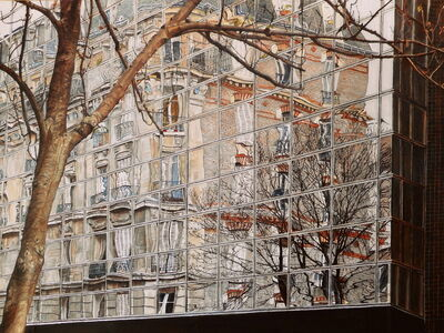 Bore Ivanoff, 'Un gran Écran, rue du chemin vert ', 2015