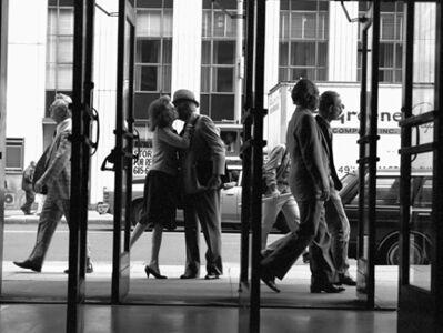 Harry Benson, 'Helen Gurley Brown and her husband David in doorway, New York', 1982