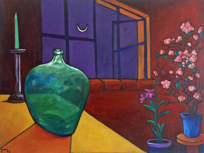 Mo, 'Bottle and Flowers'