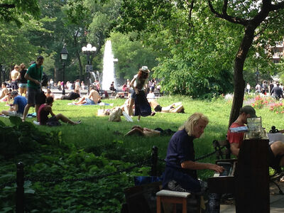 Karen Rempel, 'Summer Piano in Washington Square Park', 2015