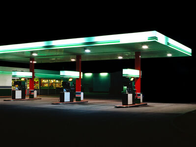 Ralf Peters, 'Petrol STations (green, white)', 1998