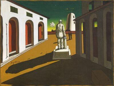 Giorgio de Chirico, 'Piazza d'Italia (con monumento ad un uomo politico)', 1945 ca.