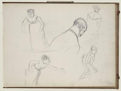 Edgar Degas, 'Five Rapid Sketches', 1877