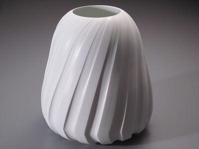 Shomura Hisaki, 'Silky White Vase - Jewel Line', 2012