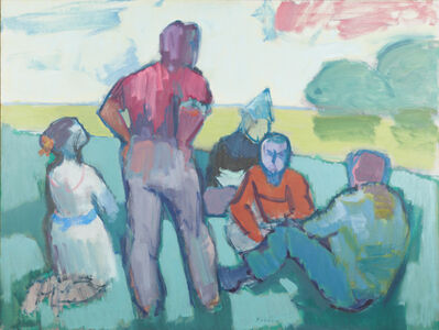 Jacob Kainen, 'Park Group (Discussion)', 1966