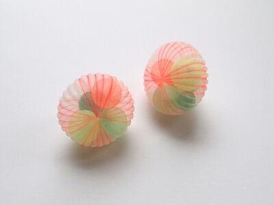 Mariko Kusumoto, 'Flattened Ball green & orange', 2020