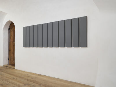 Alan Charlton, '12 Part Horizontal Painting', 1996