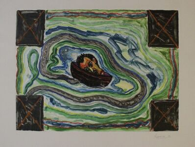 Luis Cruz Azaceta, 'II-Journey: Head in a Boat II', 1989