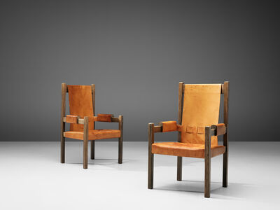 Unattributed, 'Pair of Scandinavian Armchairs with High Back', 1960s