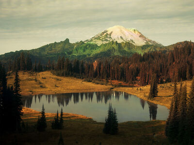 Peter Funch, 'Mt. Rainier and Lake Tipsoo', 2015