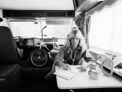 Julian Wasser, 'Farrah Fawcett writing in her journal, 1976', 1976
