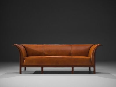 Frits Henningsen, 'Frits Henningsen Sofa in Cuban Mahogany and Cognac Leather', ca. 1930