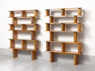 Charlotte Perriand & Pierre Jeanneret, 'Pair of pine bookshelves', ca. 1950