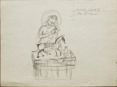 Pei Zhuangxin, 'Sketch ⼿稿《桌上的⾺》', 2006
