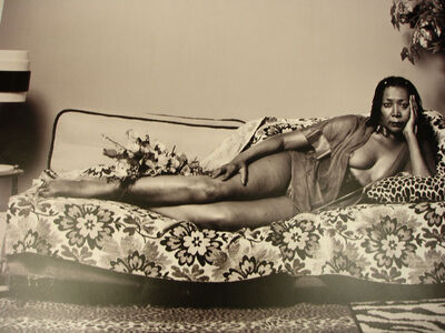 Mickalene Thomas, 'Madame Mama Bush in Black and White', 2007