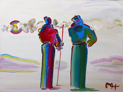 Peter Max, 'TWO SAGES, ONE WITH CANE VER. II #3', 2002