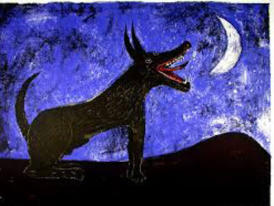 Rufino Tamayo, 'Perro de Luna (Moon Dog), from the Mexican Masters Suite', 1973