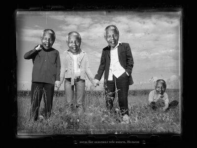Petr Lovigin, 'Takeshi Kitano and other icons/ Nelson Mandela', 2009