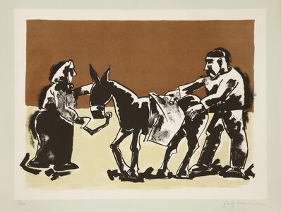 Josef Herman RA, 'Scene On The Shore'