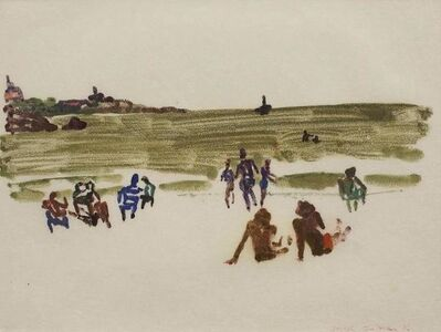 Joseph Solman, 'Modernist Beach Scene, 1976 Monotype', 20th Century