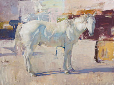 Quang Ho, 'White Horse with Abstraction', 2019