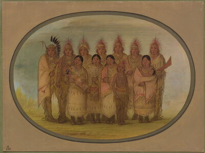 George Catlin, 'Iowa Indians Who Visited London and Paris', 1861/1869