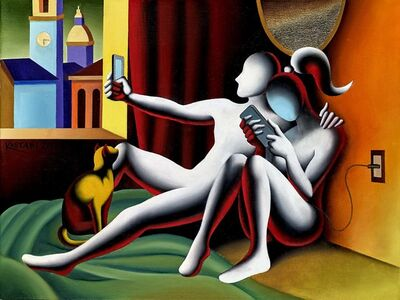 Mark Kostabi, 'Self Awareness', 2018