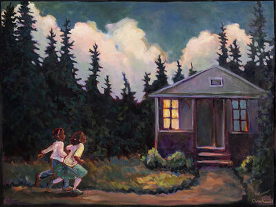 Carol Aust, 'Two Girls Running', 2020