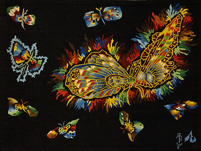 """Jean Lurçat, 'Wall-hanging tapestry, """"Nouveau Papillon Chinois""""'"""