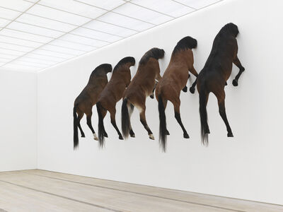 Maurizio Cattelan, 'View of the exhibition KAPUTT', 2013
