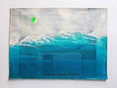 "Iain Baxter&, 'Iain Baxter& ""Containing Landscape"" Conceptual Monoprint Painting', 20th Century"