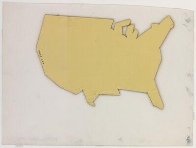 Steven Parrino, 'Yellow USA', 1981
