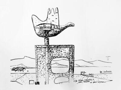 Le Corbusier, 'La main ouverte ', 1955