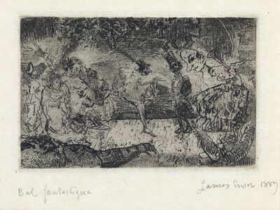 James Ensor, 'Le Bal Fantastique', 1889