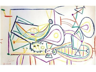 "Pablo Picasso, 'Lithograph ""Composition"" after Pablo Picasso', 1958"