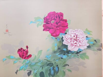 David Lee, 'Red and Pink Flowers', ca. 1996