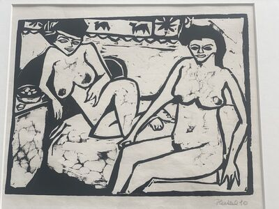 Erich Heckel, 'ZWEI FRAUEN ( TWO WOMEN)', 1910
