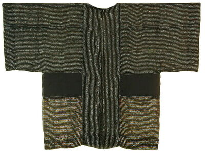 Chant Avedissian, 'Siwa inspired cut, black transparent cotton with shinny threads', 1988
