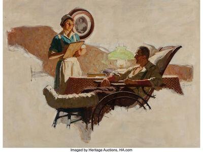 Saul Tepper, 'The Patient, Saturday Evening Post interior illustration', 1927