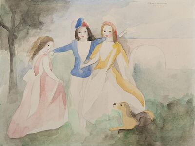 Marie Laurencin, 'Trois femmes jouant avec un chien', Unknown