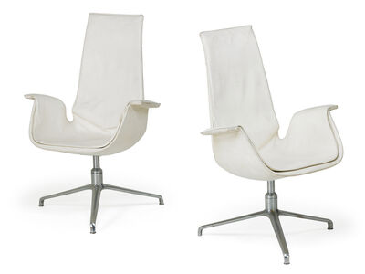 Preben Fabricius, 'Pair of tall back Bird chairs', 1970s