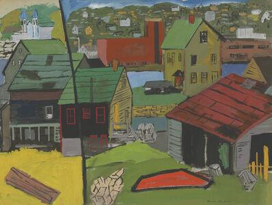 Morris Blackburn, 'Roof-Top in Curved Space  (Gloucester) ', ca. 1950