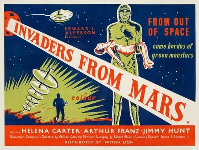 Film Poster, 'Invaders from Mars', 1954